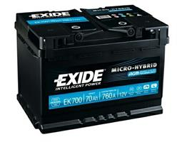 """Батарея аккумуляторная """"Micro-Hybrid AGM"""", 12в 70а/ч"""